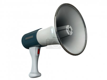Megaphone isolated on white background