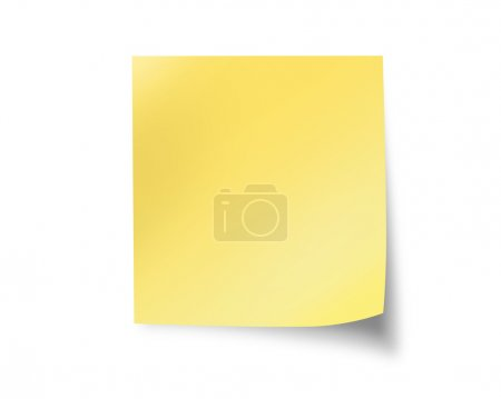 Blank post it isolated on white background...