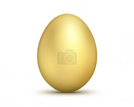 Golden egg isolated on white background...