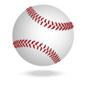 Illustration of highly rendered baseballs isolated in white background