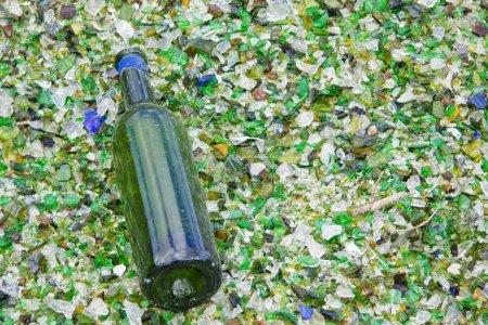 Bottle on Smashed Glass