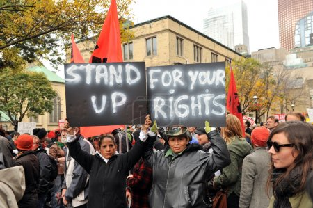 Occupy protest - stand up for your rights