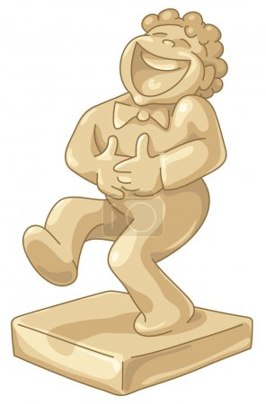 Illustration for Gold Award for the best sense of humor. - Royalty Free Image