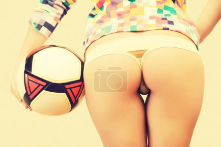 Beauty girl in string with a ball