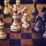 Chess piece isolated on white background advising to strategic behavior