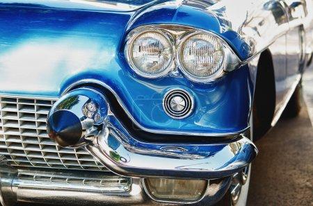 Retro car chrome detail