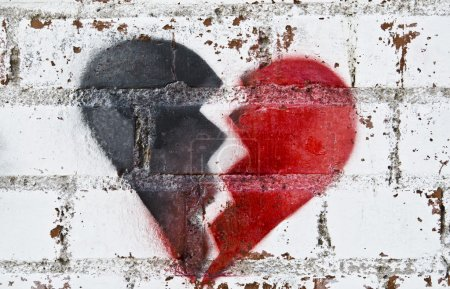 Photo for Broken heart graffiti symbol - Royalty Free Image