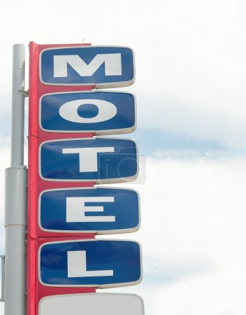 Old motel sign near Route 66, USA