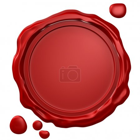 Photo for Empty wax seal - Royalty Free Image