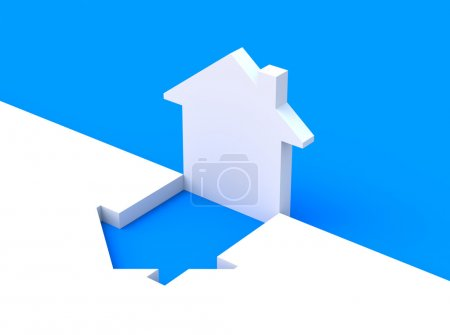 Concept with house shape