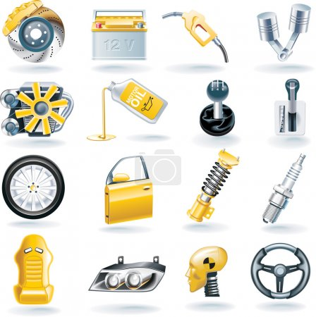 Photo for Set of transport related icons - Royalty Free Image