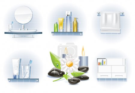 Vector bath icon set