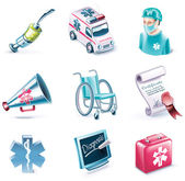 Vector cartoon style icon set. Part 26. Medicine