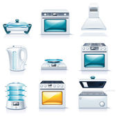 Set of the detailed domestic appliances icons