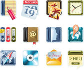 Vector universal square icons Part 1 (white)