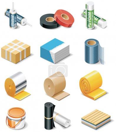 Foto de Conjunto de los iconos que representan los productos de construcción - Imagen libre de derechos