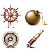 Vector marine travel icons Part 3