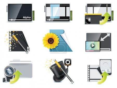 Vector video icons