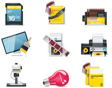 Vector photography icons. Part 2