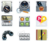 Set of the detailed satellite navigation icons