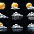 Set of the weather forecast related icons...