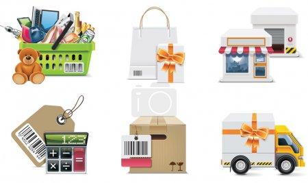 Foto de Conjunto de ilustraciones comerciales y elementos de diseño - Imagen libre de derechos