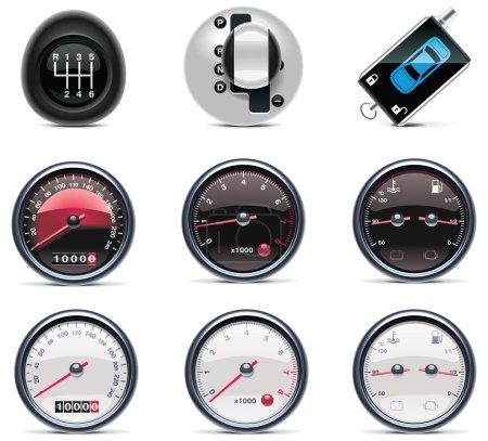 Foto de Conjunto de reparación de automóviles y mantenimiento relacionados con iconos - Imagen libre de derechos
