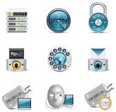 Set of the computer networking icons