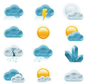 Vector weather forecast icons Part 1