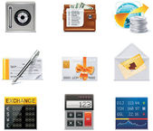 Set of the detailed banking related icons