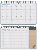 Detailed calendar template - can be used for application or website