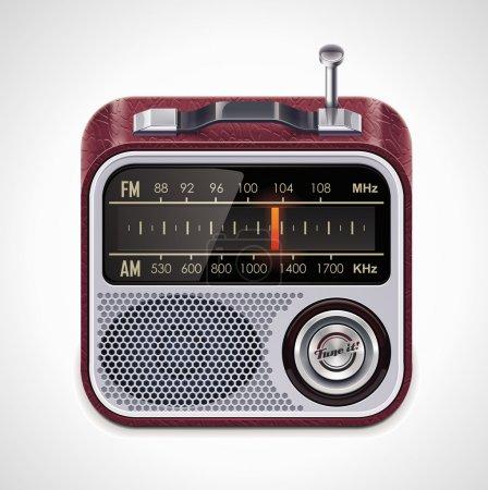 Vector radio XXL icon