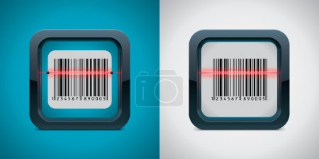 Vector bar code scanner icon