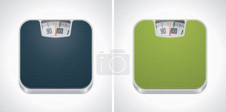 Illustration for Square icon representing bathroom weight scale - Royalty Free Image