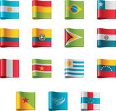 Vector flags South America part 5