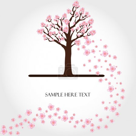 Illustration for Flowering tree vector - Royalty Free Image