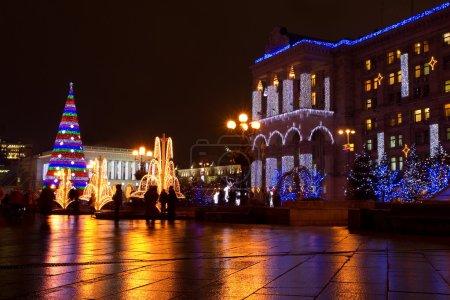 Photo pour Place de l'indépendance sur Noël à kiev, ukraine - image libre de droit