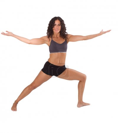 Yoga Lady in Warrior Pose