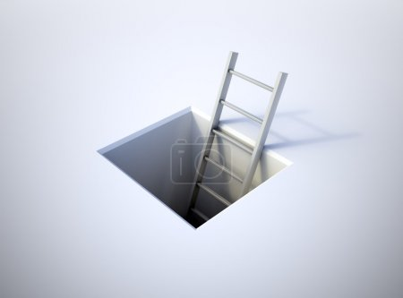 Photo for A ladder leading from underground - Royalty Free Image