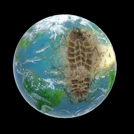 Photo pour Empreinte écologique - image libre de droit