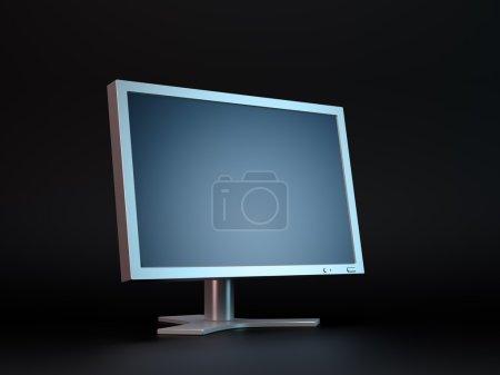 Dark computer display monitor