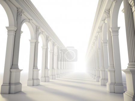 Photo for Classical colonnade with arcades and Corinthian columns - Royalty Free Image