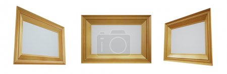 Three empty frames isolated on a white background