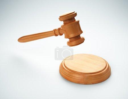 Photo pour Gavel une image concept enchère ou justice - image libre de droit
