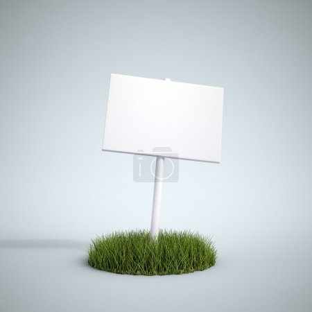 Photo for An empty sign on a patch of grass - Royalty Free Image