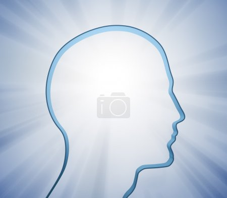 Photo for Human head silhouette - Royalty Free Image