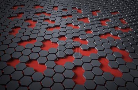 Tecnología hexadecimal abstracta