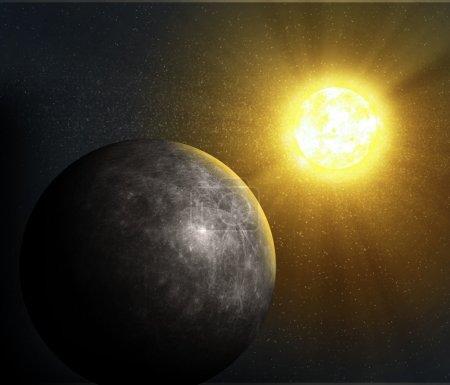 Sun rising over Mercury...