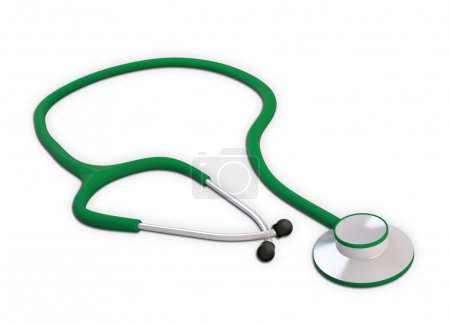 Photo for Green medical stetoscope - Royalty Free Image