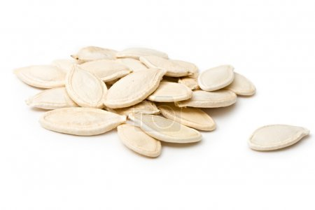Photo for Pumpkin seeds isolated on the white background - Royalty Free Image